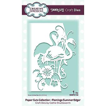 Creative Expressions Paper Cuts Collection Cutting Dies - Flamingo Summer Edger