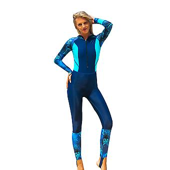 Wetsuit Women Long Sleeve Diving Suits With Front Zipper Uv Protection