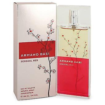 Armand Basi Sensuele Red Eau De Toilette Spray By Armand Basi 3.4 oz Eau De Toilette Spray