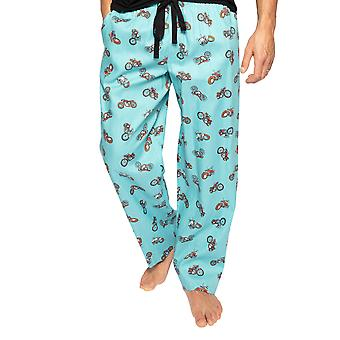Cyberjammies Lucas 6573 Men's Sininen Moottoripyörä Puuvilla Pyjama Pant