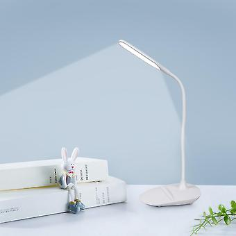 Led Desk Lamp, Touch Control, Brightness Eye-caring, Table Light With Usb