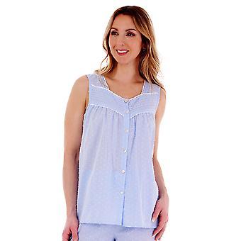 Slenderella PJ77233 Women's Spotted Cotton Pyjama Set