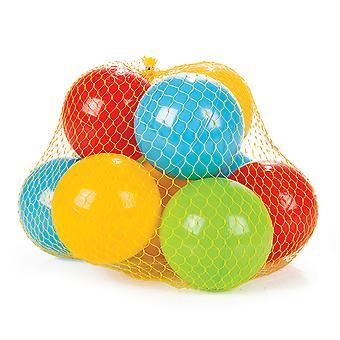 Pilsan 10 peças bolas de jogo colorido 06155 na rede, diâmetro 9 cm, banho de bola