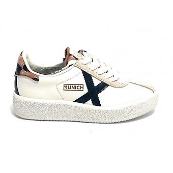 Shoes Women Munich Sneaker Mod. Barru Sky 46 Leather/ White Suede Ds21mu01 8295046