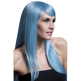 Smiffy's # Fever Sienna Wig - Pastel Blue DISCON #