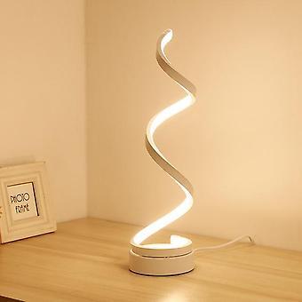 Moderne LED Spiraltisch Lampe gebogen Schreibtisch Nachttisch Lampe cool weiß warmweiß Licht für Wohnzimmer Schlafzimmer Leselicht