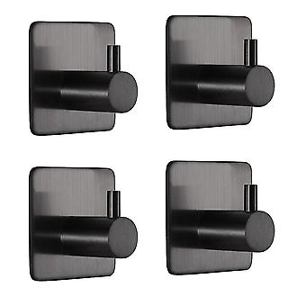 4 PC Square Hook Klæbrig rustfrit stål