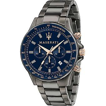Mens Watch Maserati R8873640001, Kvarts, 44mm, 10ATM