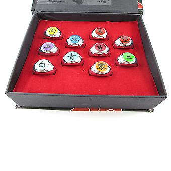 10 Rings Naruto Ring Set
