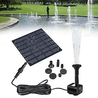 Solar Panel Powered Water Fountain Pool Pond Garden Water Sprinkler Sprayer with Water Pump & 3 Spray Heads