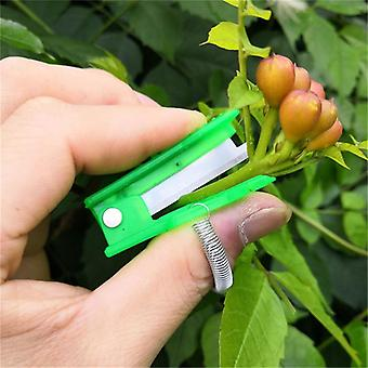 Mini Garden Pruner, Fruit Picking Device, Multifunction, Thumb, Knife, Safe