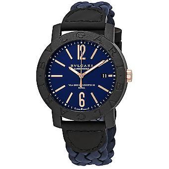 Bvlgari Blue Dial Automatic Men's Watch 102634