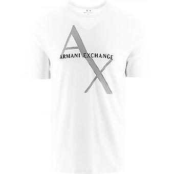 Armani Exchange Valkoinen Logo T-paita