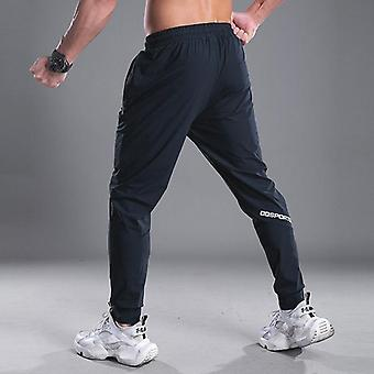 Men Running Soccer Training Pants With Zipper Pockets Football Trousers