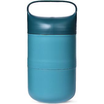 lunchbox OBP 1.1 litre 11 x 22.5 cm green