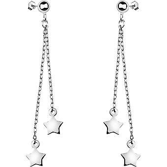 HanFei - Damen Ohrringe 925 Silber - Ohrhnger als Stern - 20675
