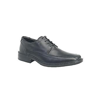 Roamers Perry Mens Soft Leather Derby Chaussures Noires