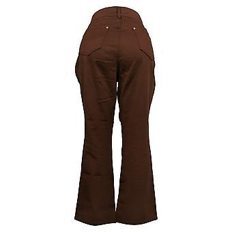 IMAN Global Chic Women's Jeans 14 Petite Slim Boot-Cut Burnt Orange 733388273