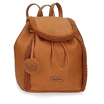 Pepe Jeans Pearl Backpack Casual Brown 26.5x28.5x16.5 cms fake leather