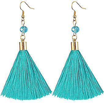 KYEYGWO - Örhängen av nappa för kvinnor, handgjorda i guld och stenpläterad kristall med fiskekrok för Ref-flickor. 0635946999325