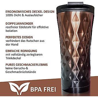 FengChun Thermobecher - Isolierbecher - Kaffeebecher to go - Coffee to go Becher - Trinkbecher aus