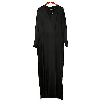 Lisa Rinna Collection Plus Jumpsuits Regular Solid Woven Black A385472