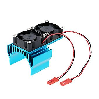 7019 Motorkühlkörper mit zwei Lüftern für 1/10 hsp rc Auto 540/550 3650