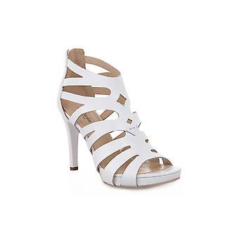 Black gardens 707 nappa pandora white sandals
