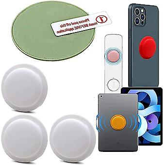 White 3 pcs location tracker case adhesive protective cover for apple airtag cai300