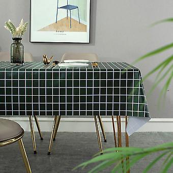 מפת שולחן עמיד למים שמן הוכחה פשוטה צבע מוצק pvc שולחן בד