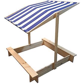Zandbak gesloten met dak – 118 x 118 x 118 cm – Hout