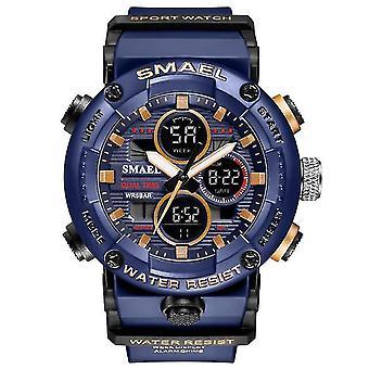 Ležérne športové hodinky Vodotesné digitálne Quartz hodinky fialové