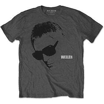 Paul Weller - Glasses Picture Men's Large T-Shirt - Charcoal Grey