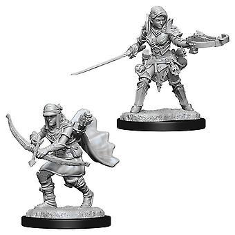 Pathfinder Battles Deep Cuts Unpainted Miniatures (W7) Female Half-Elf Ranger