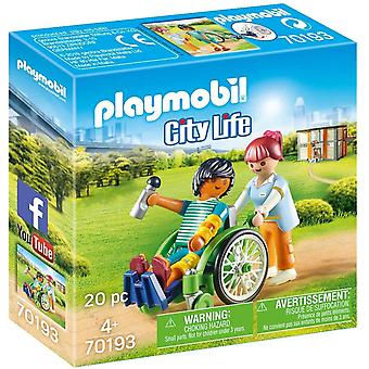 Playmobil 1.2.3 Patient In Wheelchair Playset