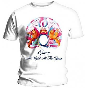 Queen A Night At The Opera Mens White T Shirt: X Large