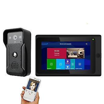 Wifi Wireless Fingerprint Ic Card Video Door Phone/bell Intercom System