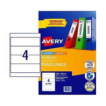 Avery Laser Label L7171 4Up Pack Of 25