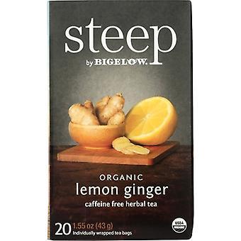 Bigelow Tea Steep Lmn Gngr Org 20, Case of 6 X 1.6 Oz