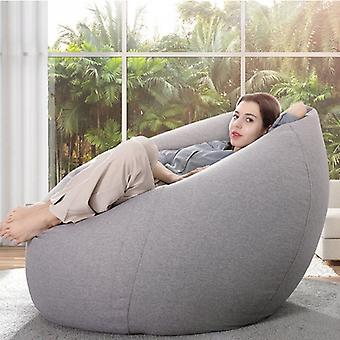 Lazy Classic Bean Bag Chair Sofa Covers without Filler Linen Cloth Lounger Seat Bean Bag Pouf Puff Couch Tatami Living Room