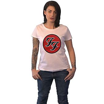 Foo Fighters T Shirt FF Band Logo new Official Womens Skinny Fit White