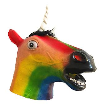 Colorful Horse Animal Head Mask Novelty Deluxe Costume For Party