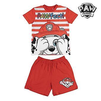 Summer Pyjama The Paw Patrol Children Red