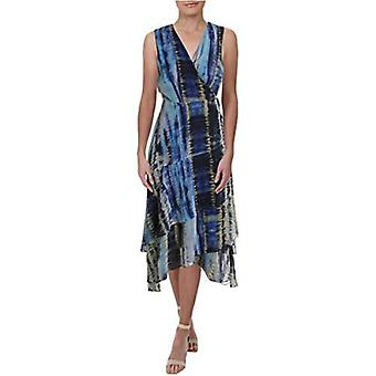 INC International Concepts Women's INC Tie-Dyed Ruffled High-Low Dress