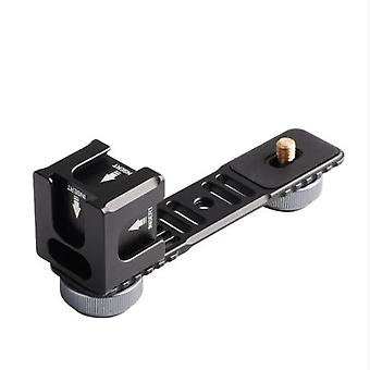 4-Head Cold Hot Shoe Mount Adapter Microphone Flash Light Aluminum Alloy Extension Bracket for DJI