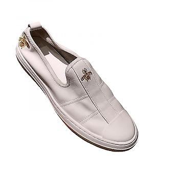 Embroidered Little Bee Shoes Men's Soft Leather Soft Leather Shoes Leather Lazy Shoes