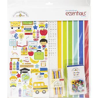"Doodlebug Essentials Side Kit 12 ""X12"" - Skoledage"