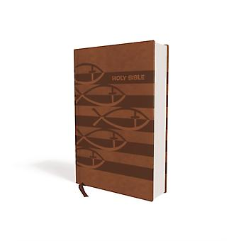 ICB Holy Bible Leathersoft Brown by Thomas Nelson