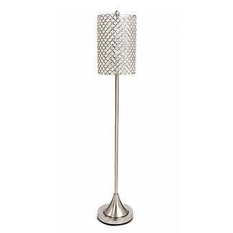 """Lámpara de pie de metal Crystal Bead de 62 """"Drum Shade"""