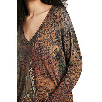 Desigual Tansania Leopard Kukat & Tiikeri eläinten villapaita tyyli 21WWJFA6